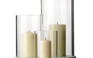 Decorative glass candle guards