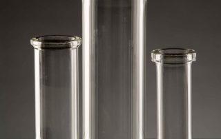 wide bottomed glas tube jars